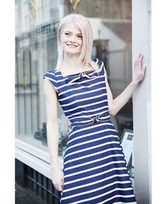 Trollied Dolly Twisted Square Neck Dress Marin med breda vita ränder Dresses, Fashion, Vestidos, Moda, Fasion, Dress, Gowns, Trendy Fashion, Clothes
