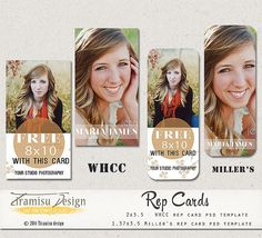 INSTANT DOWNLOAD Senior Rep Card Adobe Photoshop by TiramisuDesign, $5.50