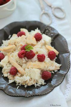 Ribes e Cannella: Riso basmati con pollo, primosale e lamponi per unlamponelcuore