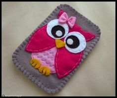 owl iphone case Felt Owls, Felt Animals, Owl Crafts, Cute Crafts, Felt Phone Cover, Sewing Crafts, Sewing Projects, Felt Bookmark, Felt Case
