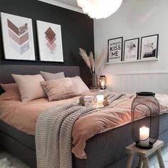 Room Ideas Bedroom, Cozy Bedroom, Bedroom Apartment, Modern Bedroom, Girls Bedroom, Contemporary Bedroom, Bedroom Designs, Minimalist Bedroom, Adult Bedroom Ideas