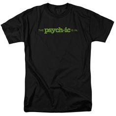 PSYCH THE PSYCHIC IS IN Adult Regular Fit Short Sleeve T-Shirt