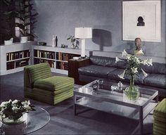 1937 Modern Living Room. #vintage #1930s #interiors #design