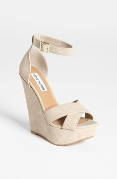 STYLIST TIPS  TRICKS : These nude wedges are a great way to fool the eye and elongate the legs, giving the illusion of an overall longer  leaner silhouette. http://hukkster.hardpin.com/tracker/c.php?m=HardPinu=type359url=http://hukkster.com/hukk/signup/oZZPauq5f8%3Fsource%3DPinterest%26medium%3DHardPin%26campaign%3Dtype359
