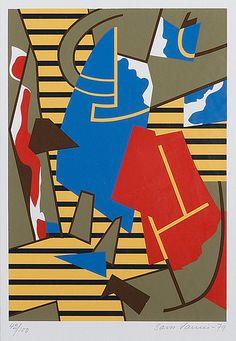 Sam Vanni: Sommitelma, serigrafia, 1979, 30x21 cm, Bukowskis Market Bukowski, Source Of Inspiration, Finland, Printmaking, Potatoes, Artists, Big, Creative, Illustration