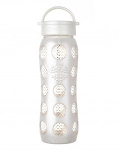 22 oz Glass Bottle with Classic Cap and Silicone Sleeve (24K Gold – Pearl Dot) $39.99 | Lifefactory