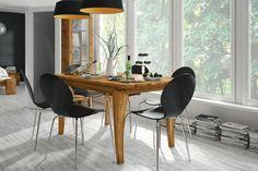 Masa din lemn masiv de stejar natural Bona, L120xl90xh77 cm #homedecor #livingroom #decoration #inspiration Cabana, Foyer, Office Desk, Conference Room, Natural, Dining Table, Furniture, Design, Home Decor