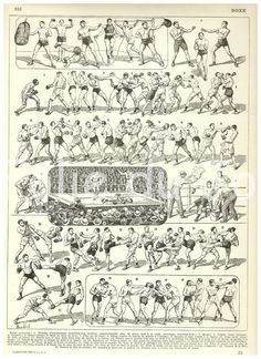 BOXING - Vintage French Larousse Dictionary poster 1930. $17.00, via Etsy.