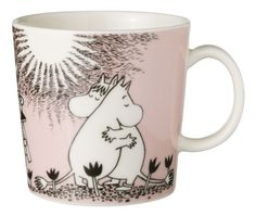 The Arabia Moomin Love Mug is a delicate pink mug that celebrates the long friendship between Moomin and Snorkmaiden. When buying Moomin designs you buy more than just a mug. Moomin House, Les Moomins, Moomin Mugs, Cappuccino Tassen, Tove Jansson, Kitchenware, Tableware, Porcelain Mugs, Ceramic Cups