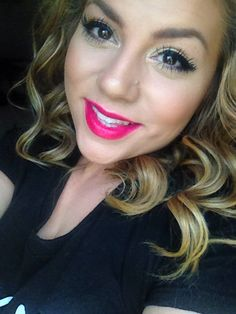 Big lashes & POPPIN pink lip stain..you can't go wrong!