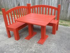 Corner bench made from a kid's bed. Neat look, and I really like the idea of having a table with it for a playroom or kids' table in the dining room. Good instructions on this one.