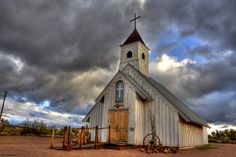 In the Light by Sue Cullumber on Capture My Arizona // This chapel is located at the Apacheland Movie set in Apache Junction. Known as the Elvis Chapel due to the fact that Elvis made several westerns at the location.