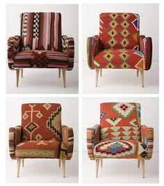 navajo blanket chairs. a WHERE DO YOU GET THESE?