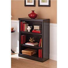 Better Homes and Gardens Ashwood Road 3-Shelf Bookcase, Multiple Finishes,  Black