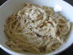 spaghetti alla carbonara #glutenfree #recipe #heathersage #asageamalgam #maincourse #pasta #italian #dinner #pancetta #egg