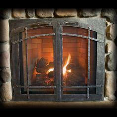 Batchelder tile fireplace designy craftsman love for Craftsman gas fireplace