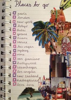 I love this for a smashbook idea/bucketlist