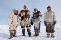This photo from Nunavut, Northern is titled 'Inuit tradition'. Canadian Identity, Ontario, Inuit People, Eskimo, Inuit Art, Folk Clothing, Northwest Territories, O Canada, Denmark