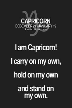 Zodiac Mind - Your source for Zodiac Facts: Photo All About Capricorn, Capricorn Quotes, Zodiac Signs Capricorn, Capricorn And Aquarius, Zodiac Mind, My Zodiac Sign, Zodiac Facts, Capricorn Season, Zodiac Horoscope