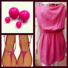 Look todo trabalhado no pink para combinar com o lindo brinco Dior Inspired Colors. Use e abuse das cores com a @marqueedeluxe.  Brincos Dondoka!!!