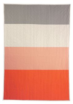 Color blocked quilt by Hopewell workshop