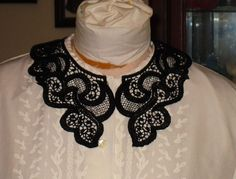 Reenactment & Theater CIVIL WAR~VICTORIAN ACCESSORIES VINTAGE STYLE LADYS WHITE BATTENBURG LACE COLLAR