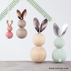 Bunny bounces Easter decoration for the whole . - Bunny hops Easter decoration for the whole family diy rayher easter decoration - Easter Crafts For Kids, Diy For Kids, Easter Decor, Happy Easter, Easter Bunny, Crafts To Sell, Diy And Crafts, Bunny Jump, Easter Presents