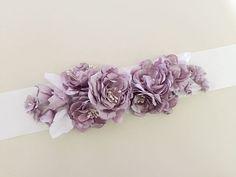 Dusky Lilac Bridal Bouquet Sash Spring Purple Wedding by amuandpri