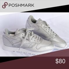 0b3a161dd57 REEBOK SHOE SILVER SNEAKERS NEW Various sizes brand new Reebok Shoes  Sneakers New Reebok Shoes