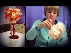 Топиарий СЕРДЦЕ - к дню Святого Валентина (мастер класс) - YouTube