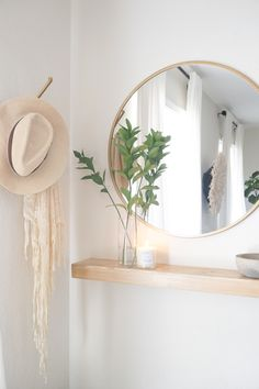 Create a functional entryway with minimal space: summer edition Hallway Decorating, Entryway Decor, Interior Decorating, Interior Design, Entryway Bench Modern, Entryway Shelf, Apartment Entryway, Parisian Apartment, Apartment Layout