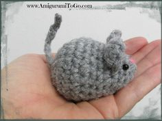Little Grey mouse made from a bunny pattern