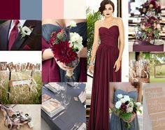 raspberry and blue color palette   Color help!!! Burgundy and slate blue?! « Weddingbee Boards