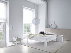 Witte slaapkamer - rust en eenvoud; Auping Auronde - Slaapkenner NICO VAN DE NES www.nicovandenes.nl