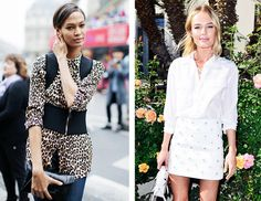 Equipment shirts are loved by A-listers everywhere—including Joan Smalls pictured in a leopard print silk button-down, and Kate Bosworth in the brand's favourite lace-up blouse.