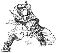 ~Ninja/忍者 - Art by Carlos Gomez~ Samurai Drawing, Warrior Drawing, Samurai Tattoo, Arte Ninja, Ninja Art, Art Sketches, Art Drawings, Character Art, Character Design