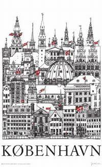 Alle torens van Kopenhagen. Kijk omhoog en zoek de hoogte op.