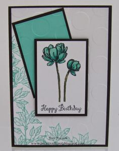 Bloom With Hope - Card 3 - Stampin' Up!  http://teriscraftspot.blogspot.co.uk/2014/08/bloom-with-hope-card-3.html