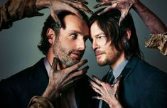 """True Bromance -  On """"The Walking Dead,"""" AMC's megahit series filmed in Georgia, no one is safe from the zombie horde. Not even, we fear, its two biggest stars, Andrew Lincoln and Norman Reedus. The two pals talk about Atlanta food, roadkill, crazy fans, and how it all could end at any time."""