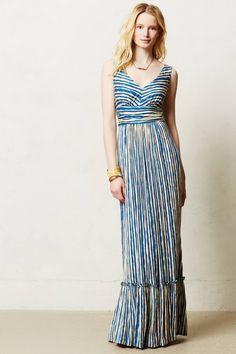 Catalina Maxi Dress | anthropologie.com love the ruffle on the bottom