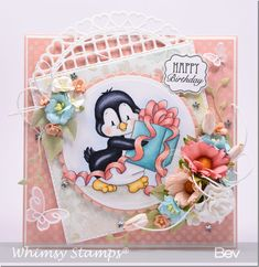 It& Emma Lou& birthday and we have a surprise and some fun! The Heartfelt Creations design team wanted to celebrate Emma Lou& Happy 30th Birthday, Birthday Greetings, Birthday Cards, Whimsy Stamps, Digi Stamps, Craftwork Cards, Cute Penguins, Animal Books, Heartfelt Creations