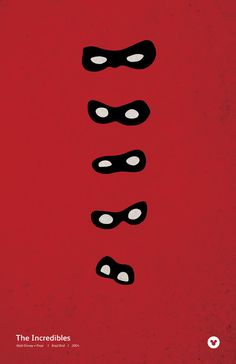 Incredibles Minimalism Movie Poster by LoveSimpleDesign on Etsy