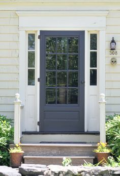 Replacing Double Front Doors On S Box Like House With Single And - Home front doors