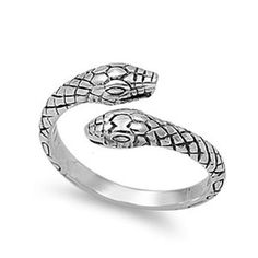EMPTY CASKET -  Sterling Silver Two Snakes Ring