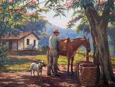 Fundo de engenho - óleo sobre tela     Terreiro de fazenda - óleo sobre tela     Ordenha     Primavera     Vila     Conversando     Lavad...