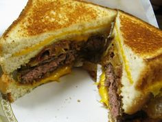 Behemoth Burger from Grill Em All foodtruck....grilled cheese sandwiches instead of bun....
