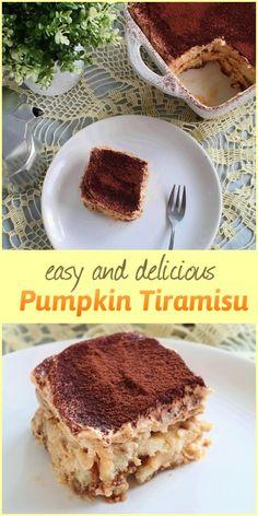 Easy and delicious Pumpkin Tiramisu