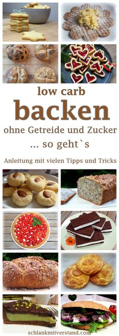 low carb backen – Anleitung mit vielen Tipps und Tricks low carb baking – guide with many tips and tricks Whoever decides for a low carb diet shouldn't have to give up on bread, breads, cakes and biscuits. Low Carb Sweets, Healthy Sweets, Low Carb Desserts, Healthy Baking, Low Carb Recipes, Pork Recipes, Menu Dieta Paleo, Law Carb, Bolos Low Carb