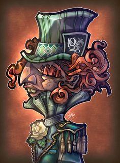 "Artist: Tim Shumate ~ ""Mad Hatter"" art print ~ #AliceInWonderland"