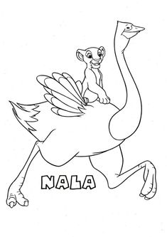 Free Ostrich Coloring Pages with Nala